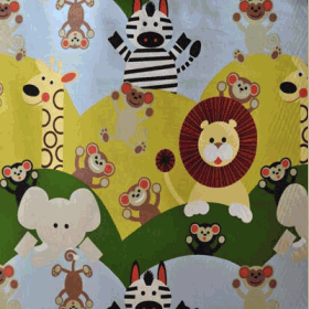 Remnant 1059: Cheeky Monkey - Lime [1.25 metre - £9.75] - £ 3.75 Item price